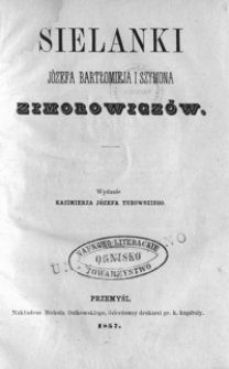 Sielanki Józefa Bartłomieja i Szymona Zimorowiczów