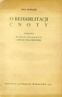 O rehabilitacji cnoty