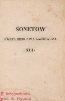 Sonety Józefa Hieronima Kajsiewicza