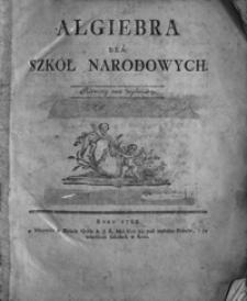 Algiebra dla Szkół Narodowych