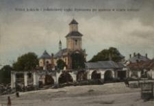Widok kościoła i południowej części Rymanowa po spaleniu w czasie inwazyi [Pocztówka]