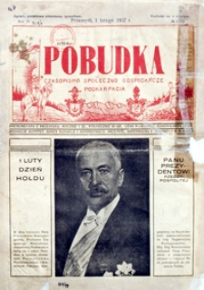 Pobudka : czasopismo społeczno-gospodarcze Podkarpacia. 1937, R. 3, nr 2 (luty)