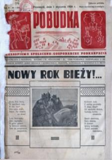 Pobudka : czasopismo społeczno-gospodarcze Podkarpacia. 1938, R. 4, nr 1-2 (styczeń)