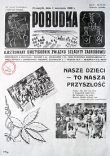 Pobudka : ilustrowany dwutygodnik Związku Szlachty Zagrodowej. 1939, R. 5, nr 17 (wrzesień)