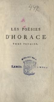 Les poësies d'Horace : avec la traduction françoise du R. P. Sanadon, de la Compagnie de Jefus. Tome premier