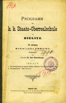 Programm der K. K. Staats-Oberrealschule in Bielitz. Schuljahr 1890/91