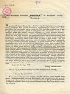 "List Redaktora Dziennika ""Polska"" do Redaktora Gazety Narodowej"