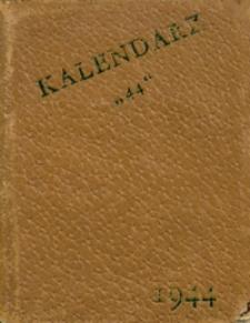 """Kalendarz """"44"""" na 1944 rok przestępny"""