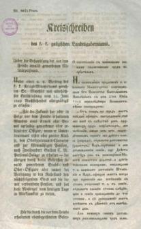 Kreisschreiben des k. k. galizischen Landesguberniums : o postuplenii s' vojskovimi osobami skalicennimi pred' nepriatelem'