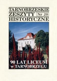 Tarnobrzeskie Zeszyty Historyczne. 1999, nr 20 (październik)