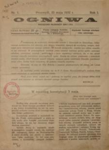 Ogniwa : miesięcznik młodzieży szkolnej. 1932, R. 1, nr 1 (maj)