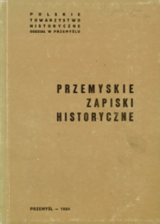 Przemyskie Zapiski Historyczne. 1980, [R. 2]