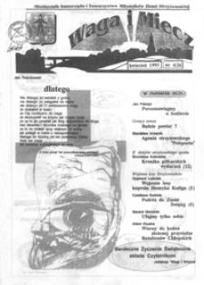 Waga i Miecz : miesięcznik Samorządu i Towarzystwa Miłośników Ziemi Strzyżowskiej. 1993, [R. 3], nr 4 (kwiecień)